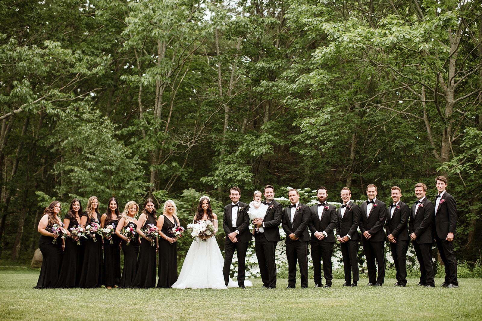 Wedding Party at Hidden Pond